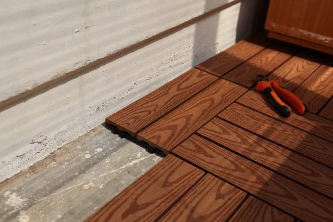 Как из дерева сделать пол на балконе