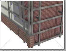 При монтаже цокольного сайдинга на фасад дома, вместо деревянной обрешетки рекомендуется использовать металлический каркас