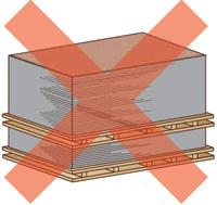 Хранение панелей NICHIHA в поддонах