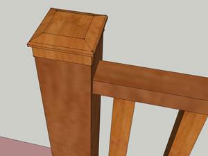 Зафиксируйте крышку для столба