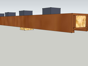 В нижней части необходимо установить деревянные бруски 40х40