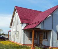 Дом до отделки фасада японскими панелями